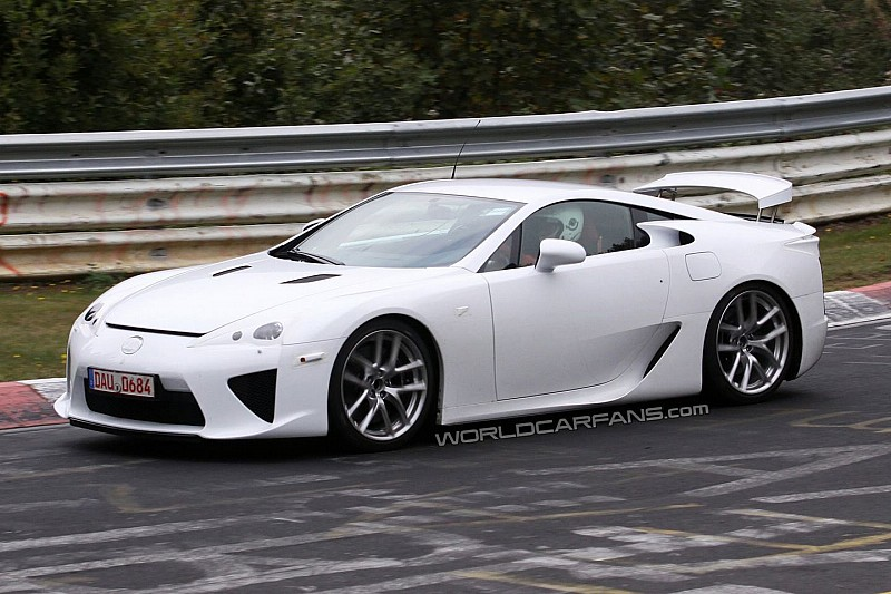 Lexus LF-A Caught Undisguised in White