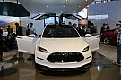 Slightly revised Tesla Model X electrifies Detroit crowd
