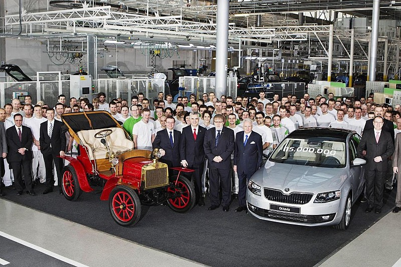 Skoda builds its 15-millionth automobile