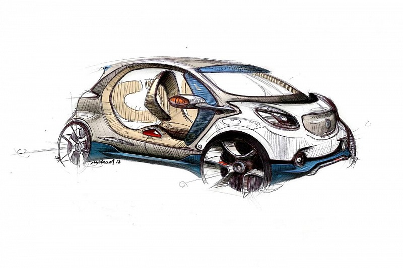 Smart fourjoy design sketch revealed ahead of Frankfurt launch