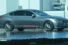 2014 Hyundai Genesis returns to show its profile in new spy photo