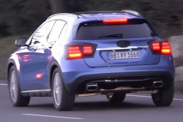 Mercedes-Benz GLA facelift spied for the first time