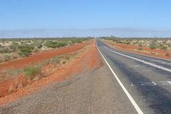 Stuart highway in Australia 16.10.2013