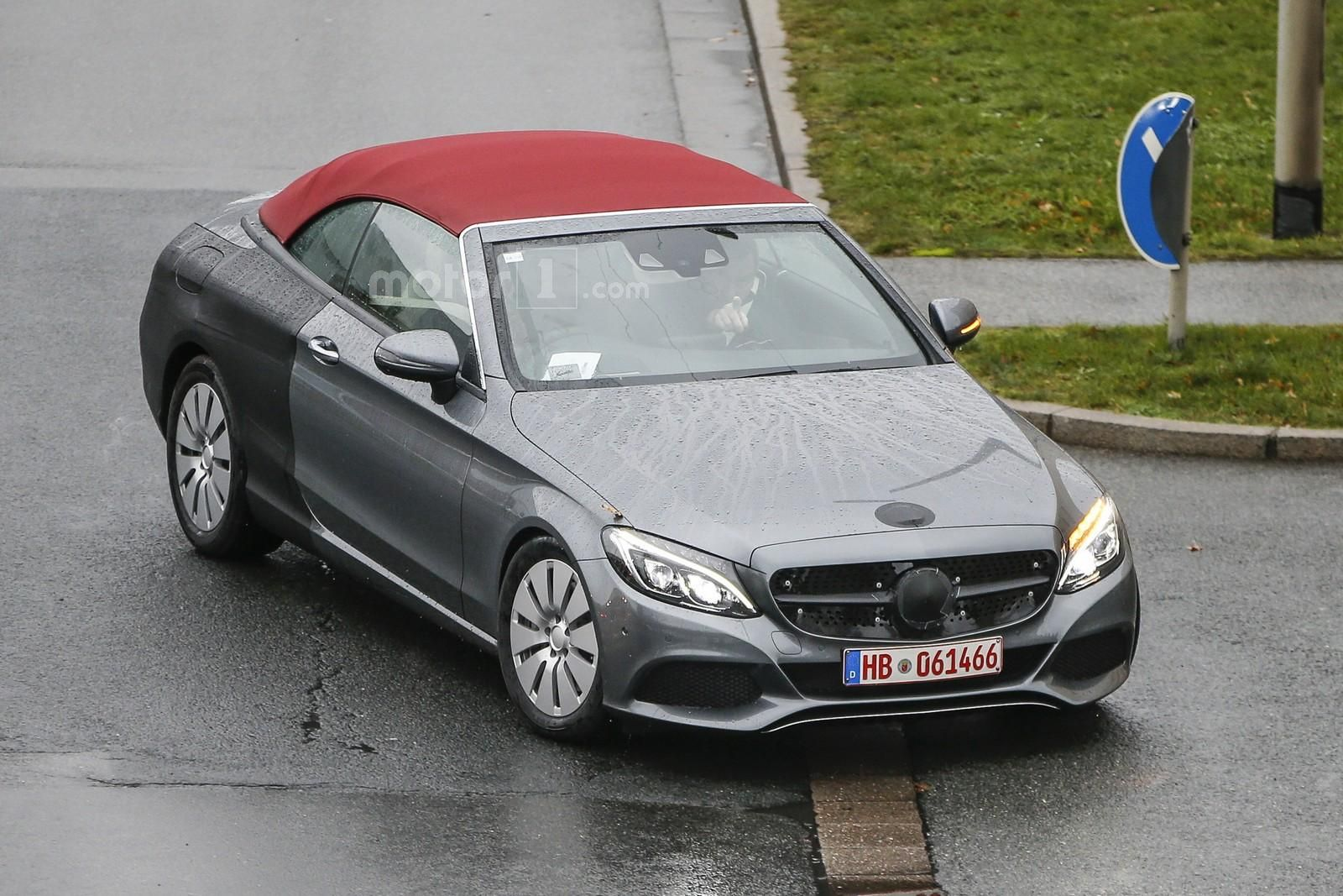 spied 2017 mercedes c class convertible virtually undisguised. Black Bedroom Furniture Sets. Home Design Ideas