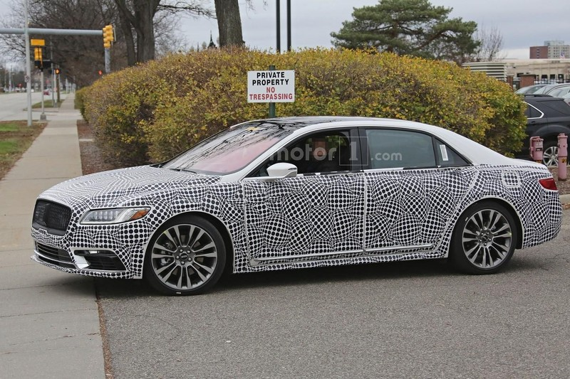 2017 lincoln continental shakes off some camo. Black Bedroom Furniture Sets. Home Design Ideas