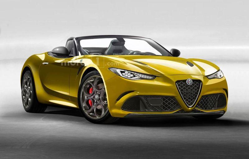 Alfa Romeo 6C fr spider rendering